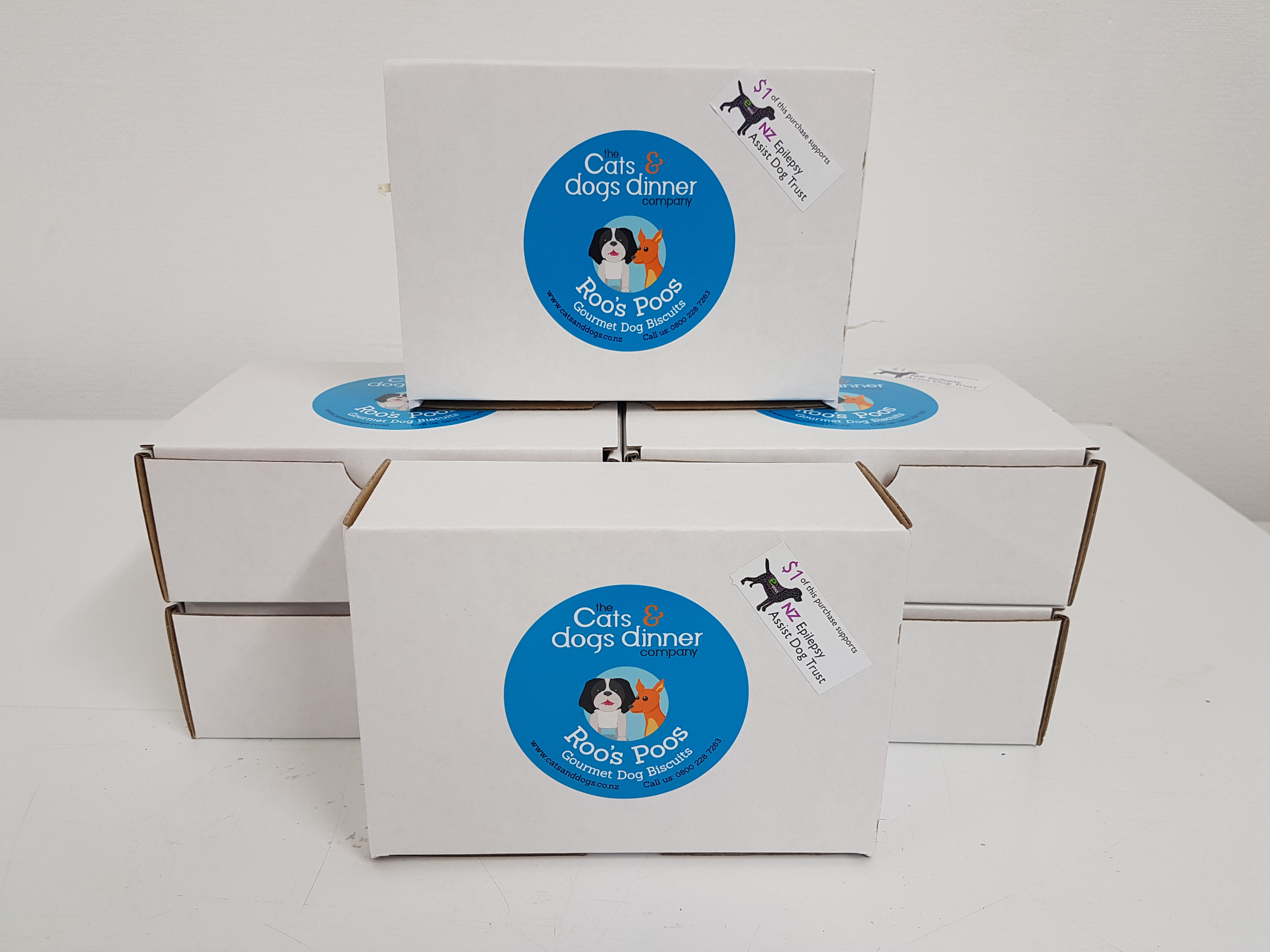 Roos Poos Biscuits (Box of 40) - With $1 Donation to NZ Epilepsy Assist Dog Trust