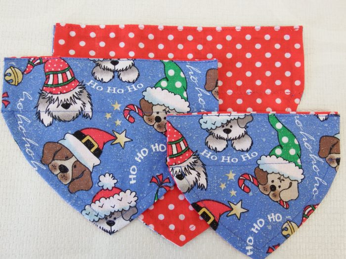 Blue Dog Christmas Bandana