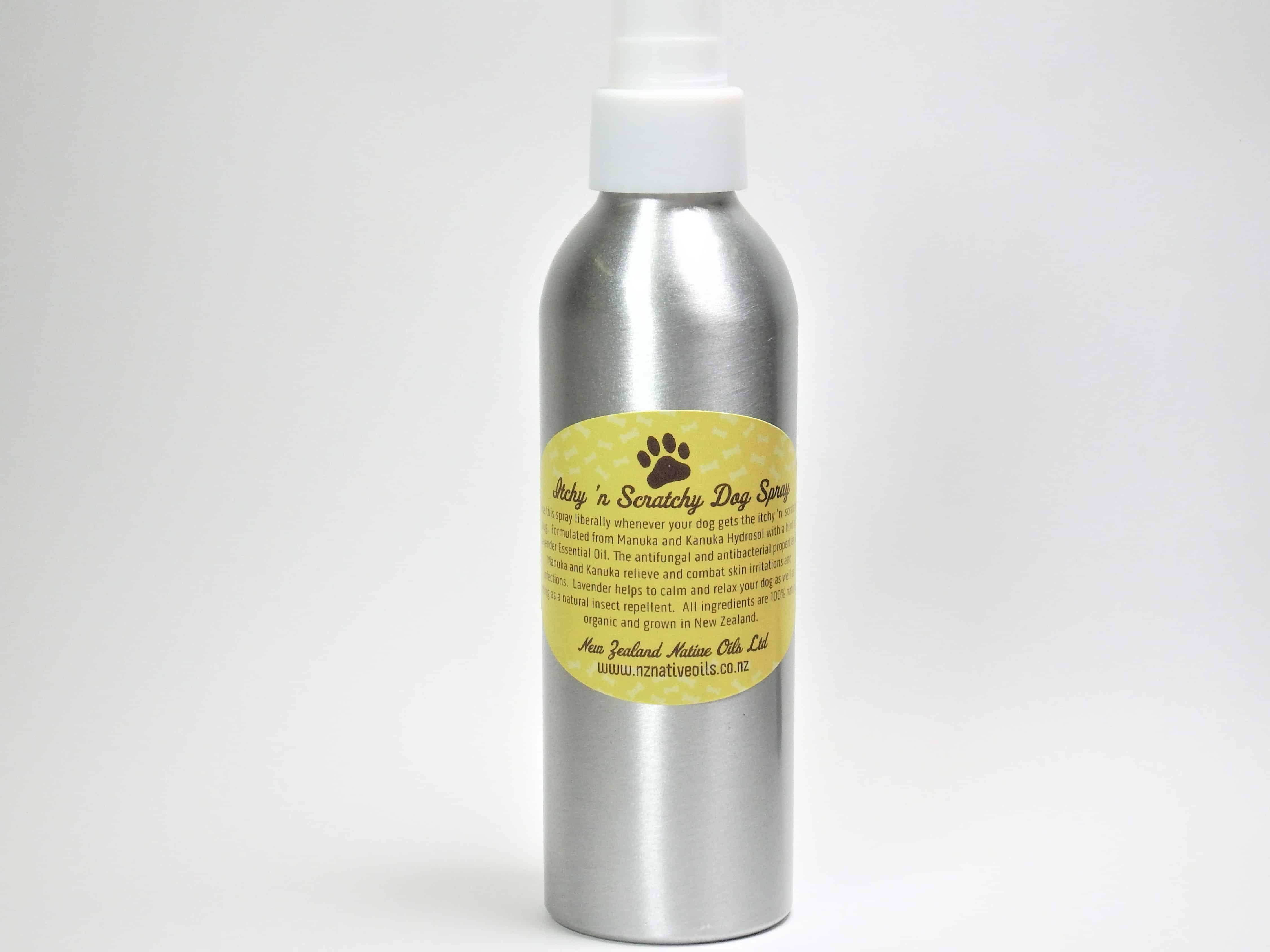 Itchy scratchy dog spray